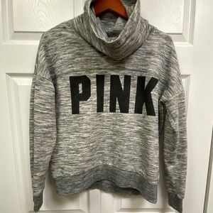 PINK by VS cowl neck heather gray sweatshirt